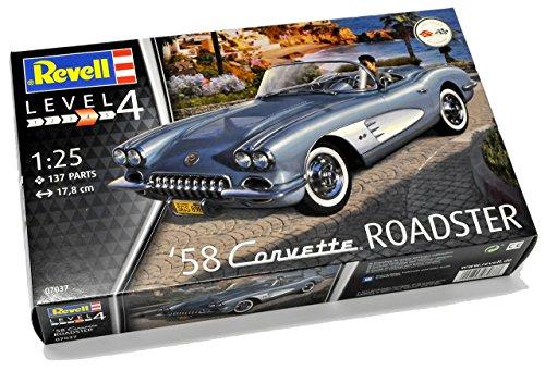 vette C1 Roadster Cabrio Grau Blau 1953-1962 07037 Bausatz Kit 1/24 Modell Auto ()