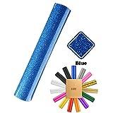 KAIMENG,50X100 CM,Vinyl Selbstklebefolie Transferpapier Vinylfolien T-Shirt Folie Transferfolie Textilfolie Glitzer zum Aufbügeln auf Textilien DIY(1 Farben)