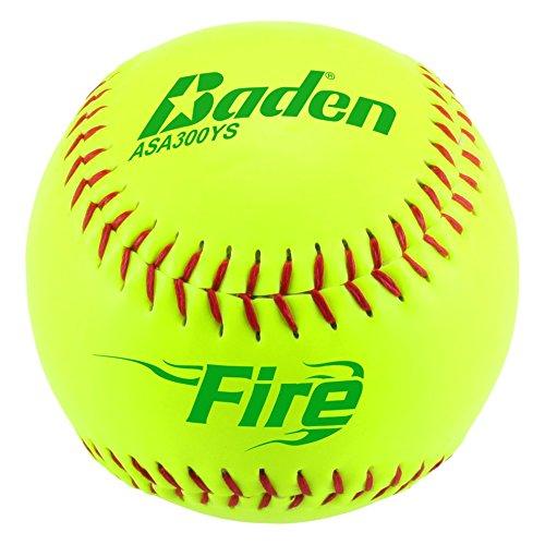 Baden ASA Fire .52COR/max 300synthetischem Bezug Slowpitch Softball (Dutzend), 30,5cm