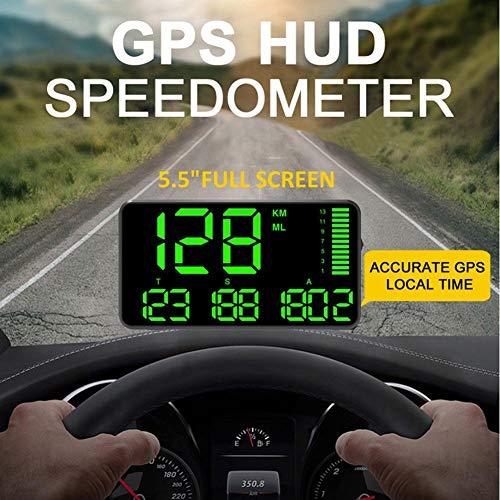 Vgeby universale Head Up display 14/cm pollici auto HUD OBDII interfaccia combustibile avvertimento di velocit/à eccessiva