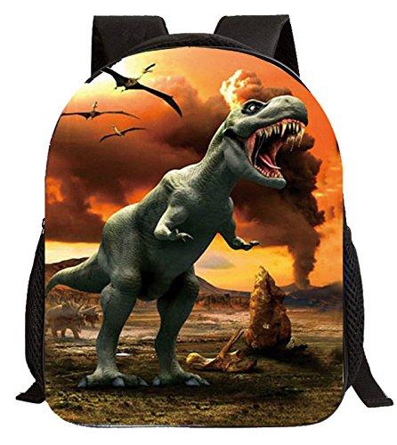 Imagen de happy cherry 3d animal  dinosaurio estampado bolso infantil para niños niñas escuela guardería, patrón 6