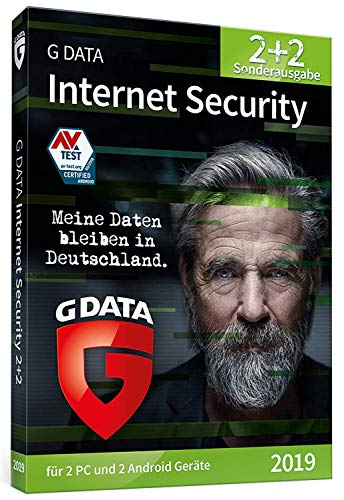 G DATA Internet Security 2019 | Edition: Virenschutz für 2 Windows-PC und 2 Android-Geräte | Trust in German Sicherheit