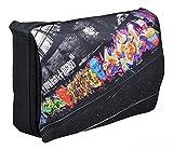 MySleeveDesign Messenger Bag Laptoptasche Notebooktasche mit Tragegurt für 13,3 Zoll/14 Zoll/15,6 Zoll/17,3 Zoll - VERSCH. DESIGNS - Graffiti [15]
