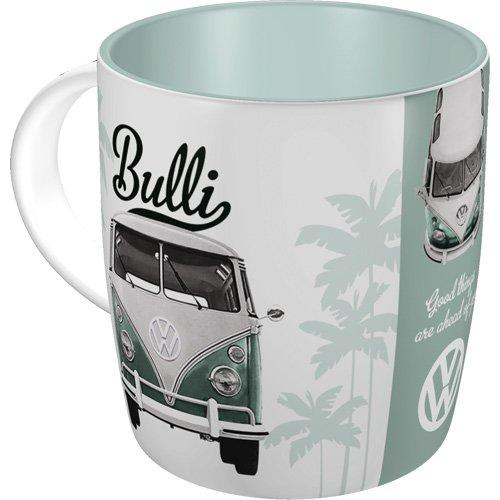 Nostalgic-Art 43033 Volkswagen - VW Bulli - Good things | Retro Tasse | Kaffee-Becher | Geschenk-Tasse | Vintage Geschirr (Tee Hund Herz)