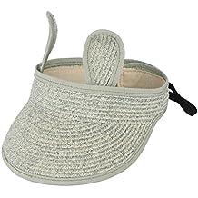 EOZY Sombrero de Paja Niño Niña Plegable para Verano Playa 8a02364b9d2
