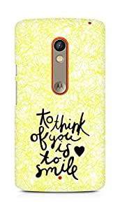 AMEZ to think of you is to smile Back Cover For Motorola Moto X Play