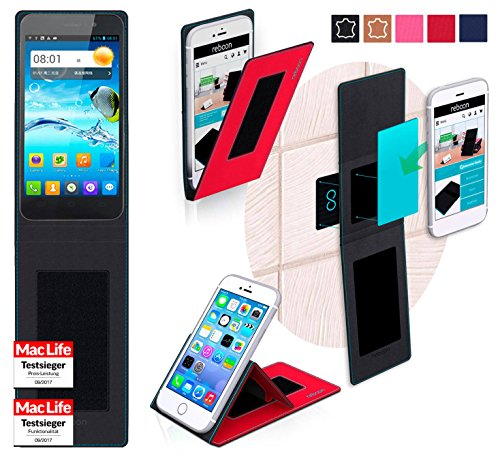 reboon Hülle für JiaYu G4 Advanced Tasche Cover Case Bumper | Rot | Testsieger