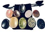 10 de pulgar de piedras de piedra con saquitos de (Amatista,...