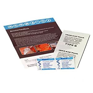 Two-M TEAR-AID type B réparation pour tout type de PVC - lit à eau, bâche, tente, canot pneumatique, bassin piscine, structures de jeu gonflables, bandes, etc.