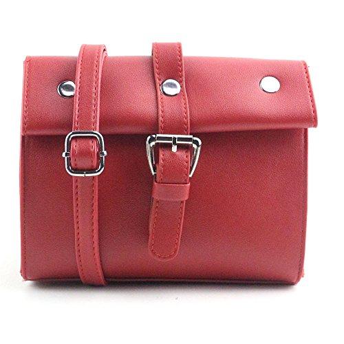 Fami Le donne di moda Retro Rivet Borsa a tracolla Grande borsa Tote signore (RD)