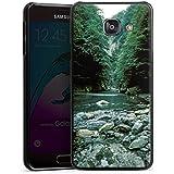 Samsung Galaxy A3 (2016) Housse Étui Protection Coque Fleuve Forêt Cours du fleuve