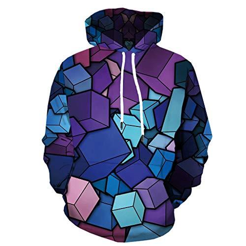 xue binghualoll Herren 3D Jacke Langarm Kapuzenmantel Geometrische Hoodie Bluse Tops Oberbekleidung Mantel Jacken Mantel Top Bluse - Kapuzen-elasthan Vertuschen