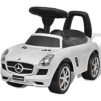 vidaXL Coche Correpasillos Niños Blanco Auto Vehículo Infantil Juguete