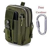 Marsupio Tattico Militare da Cintura MOLLE Utility Tactical Pouch Sport Uomo Impermeabile Bag per Attività all'aperto Hiking Campeggio Ciclismo Pesca (verde)