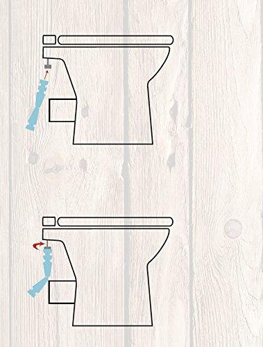 Universal Montageschlüssel für WC-Sitz   Installations-Werkzeug für Toilettensitz   Toilettendeckel   Rot   Befestigung - 2