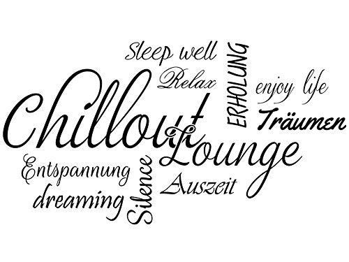 Wandtattoo-bilder Wandtattoo Wortwolke Chillout Lounge Nr 1 Wandaufkleber Wandsticker Farbe Grau,...
