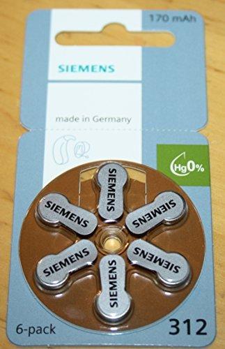 Siemens 312er Hörgeräte Batterien 120 Stück