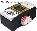 UPSTONE Kartenmischmaschine Kartenmischgerät für 2 Kartendecks Elektrisch Poker UNO