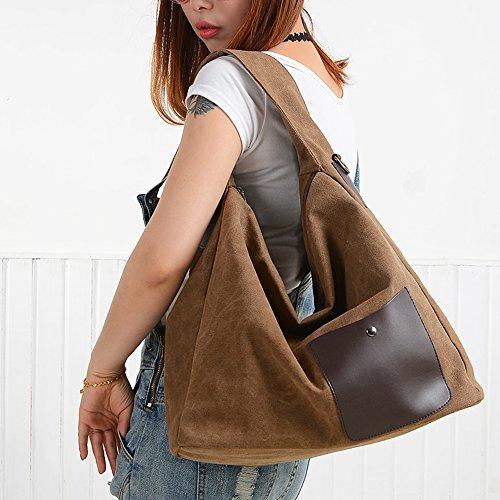 BYD - Damen Bag Schultertaschen Mutil Function Bag Crossbody Bag Tote Handtaschen Braun