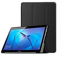 MoKo Huawei MediaPad T3 10 Funda - Ultra Slim Lightweight Función de Soporte Protectora Plegable Smart Cover Durable Con Cierre magnético para Huawei MediaPad T3 10 9.6 Pulgadas Tableta, Negro