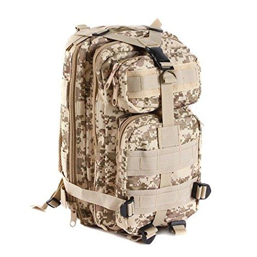 Nlyefa impermeable de camuflaje mochila 30L / Asalto bolsa duradera / Mochila de senderismo / camping Bolsa de camping al aire libre Montañismo Exploración