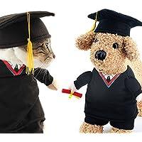OSPet divertente Pet laurea costume con cappello laurea nero per cani di  piccola taglia e gatti fa943cedb94f