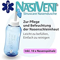 Preisvergleich für Nasivent Sinuscare - Nasendusche Starter Set inkl. 10 Beutel Nasenspülsalz - Zur Pflege und Befeuchtung der Nasenschleimhaut...