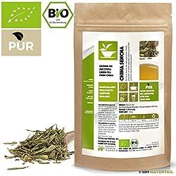 100 g Sencha Grüner Tee Bio - im aromadichten & wiederverschließbaren Beutel - Natürlich Tee by Naturteil