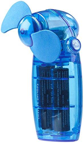 PEARL Taschenventilator: Batterie-betriebener Mini-Hand- und Taschen-Ventilator, blau (Gebläse) (Gebläse Lüfter Mini)