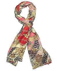 Indian Fashion Guru exclusive design azetic floral fusion brown cotton stole ...