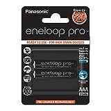 Panasonic eneloop pro, Ready-to-Use Ni-MH Akku, AAA Micro, 2er Pack, min. 930 mAh, 500 Ladezyklen, mit extrastarker Leistung und geringer Selbstentladung, wiederaufladbare Akku Batterie, Akkubatterie