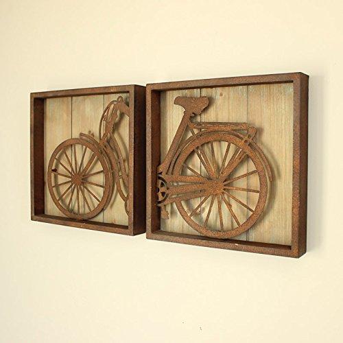 Conjunto de 2 del arte de la pared cuadros bicicleta