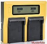 Bundlestar LCD Cargador doble de batería para Fujifilm NP-W126 NP-W126s
