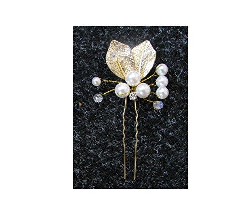 Ivoire Blanc Perle Or Argent Diamante Feuille Cheveux Peigne à grecque VTG B86 * * * * * * * * exclusivement vendu par – Beauté * * * * * * * *