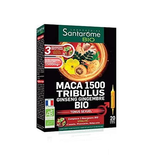 Santarome Bio Maca 1500 Tribulus Ginseng Zenzero 20 fiale