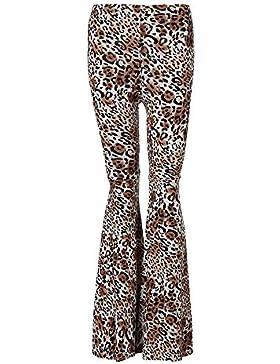 ❤️ Pantalones Acampanados para Mujer, Pantalones de Campana de Mujer Pantalones Impresos de Pierna Ancha Absolute