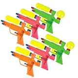 Water Gun, Set of Colored Toy Guns, (6)