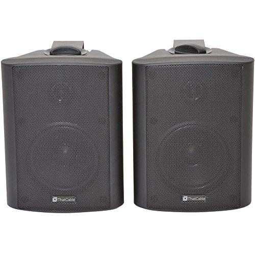 "51Htrll6GxL. SS500  - PRO SMART HOME BLUETOOTH SPEAKER SYSTEM – 4x 70W 4"" Black Wall Mounted Speakers & 110W Stereo HiFi Amplifier - *ECHO…"