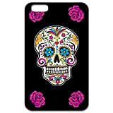 Yonacrea - Coque 3D téléphone Iphone 7 et Iphone 8 -Tête de mort mexicaine