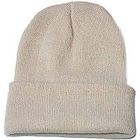 Gorro de PuntoMujer Invierno Unisexo Gorra de Hiphop Color Sólido para Hombre Beanie Hat Sombrero Gorra de Esqui Holatee