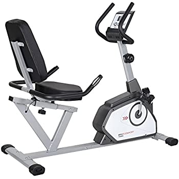 Toorx BRX Recumbent Comfort - bicycle trainers (Magnetic, Black, White, Drive disk / Ribbed belt, Hand grip sensors, Calories, Distance, Recovery pulse rate, Speed, Timer)