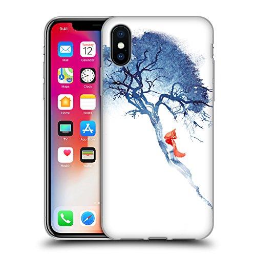Ufficiale Robert Farkas Volpe DInverno Donna Volpe Cover Morbida In Gel Per Apple iPhone 6 Plus / 6s Plus Non Si Torna Indietro