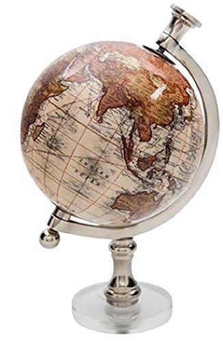 Geformter Globus auf runder Acrylbasis 12,7 cm Durchmesser 22,9 cm hoch hautfarben -