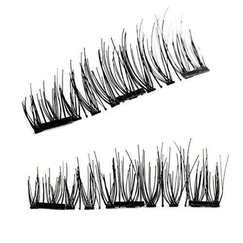 LCLrute NEUE Doppelte magnetische falsche Wimpern-natürliche Augen-Wimperntusche-Verlängerungs-Handgemachtes 2018 (C) (Kosmetische Fall Magnetische)