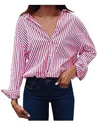 De Rayas Ropa Mujer Blusas Y Mujer Amazon Camisas es 4qxwnE7