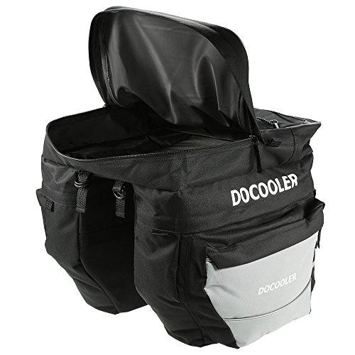 Docooler 38L 3 in 1 Fahrradtasche Satteltasche/MTB Pack Paket/Fahrrad Hecktasche, Material: Oxford Tuch, Artikel Größe: 39 * 38 * 43 cm Grau