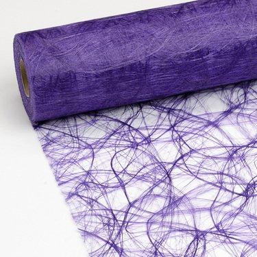 100 Deko Diamanten + 25 m x 20 cm Sizoweb® Vlies Original Tischband Tischläufer lila purple für Hochzeit, Weihnachten ...