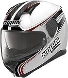 Nolan N87 Rapid Integralhelm Motorrad Polycarbonat n-com - Metall Weiss Größe 2XL