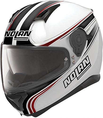 Nolan n87rapid casco integrale motociclo policarbonato n com–metallo bianco taglia xl