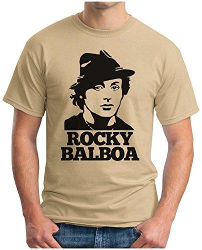 OM3 - ROCKY BALBOA FACE - T-Shirt BOXER 70s 80s The ITALIEN STALLION USA, S - 5XL Khaki